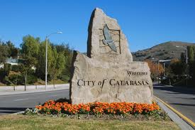 A sign of the city of Calabasas in Los Angeles.
