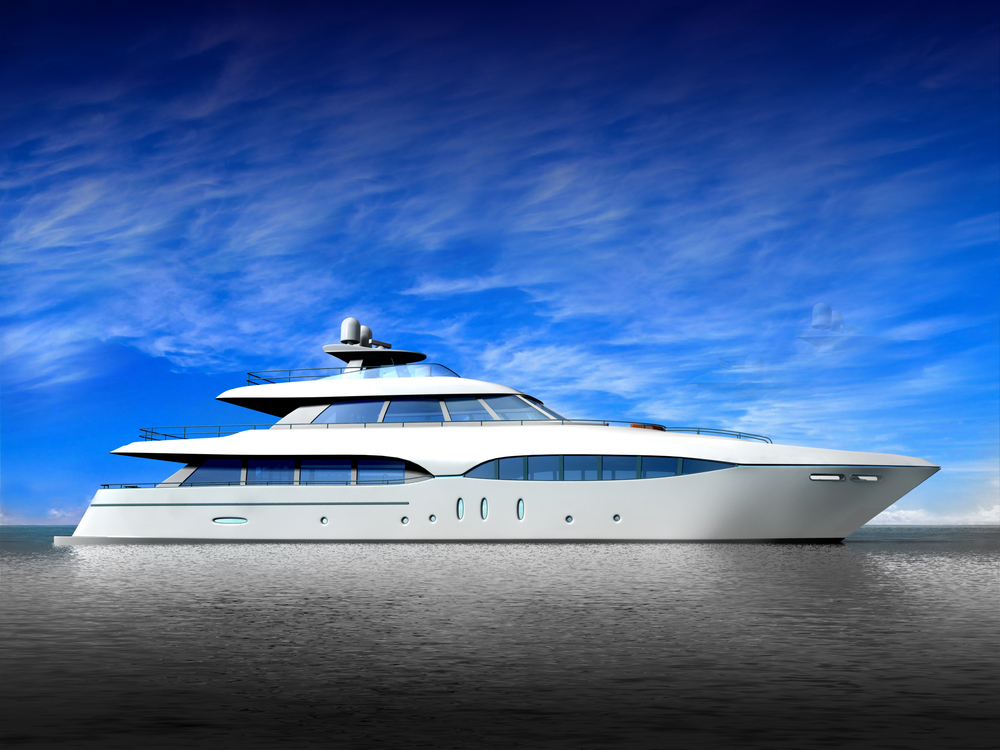 A very expensive yacht.